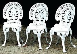 White wrought iron furniture Lawn White Metal Patio Furniture Ritualcarnage White Wrought Iron Patio Chairs Emergency Home Decor Ideas Wrought Iron Outdoor Dining Set Cool White Wrought Iron Outdoor