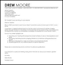 Football Coach Cover Letter Capable Although Sample Inmyownview Com