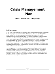 crisis management plan example bb7248 crisis management plan template business pdf 14964 cmerge