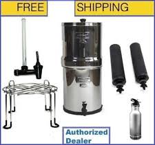 royal berkey water filter. Royal Berkey Water Filter W2 Black Filters + Level Spigot Stand \u0026 Bottle