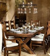 pottery barn style dining table: