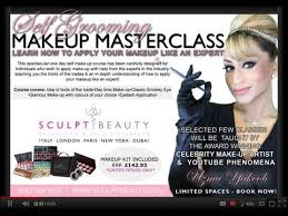 sculpt beauty self grooming one day makeup course you
