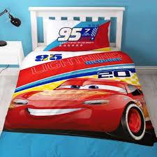 disney cars 3 official lightning mcqueen reversible single duvet cover bedding set utsg9533