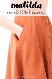 Skirt Patterns With Pockets Magnificent Skirt Skirt Pockets A Matilda Dress Tutorial Megan Nielsen