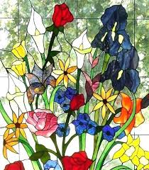 stained glass flower patterns symmetrical flower pattern
