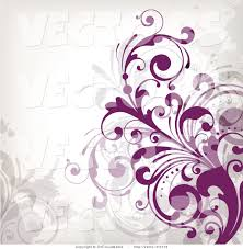 Purple Background Designs Vector Of Purple Flourish Vines Background Design On White