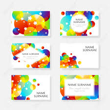 Creative Kids Cards With Colorful Bubble Decoration And Starry