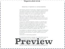 Magazine Article Format Template Magazine Article Format