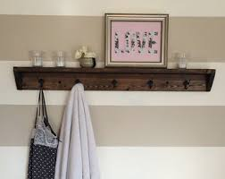 Wall Coat Racks With Shelf Coat rack shelf Etsy 2