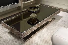 black glass modern mirrored coffee table decorations modern interior carpet high quality minimalist