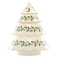 How To Decorate A Cookie Jar Amazon Lenox Holiday Tree Cookie Jar Ivory Kitchen Dining 76