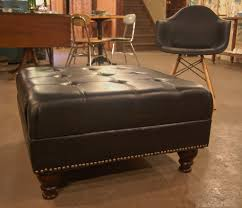 Image Brown Leather Oversized Leather Ottoman Coffee Table Smartsrlnet Oversized Leather Ottoman Coffee Table The New Way Home Decor