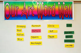 art words bulletin board