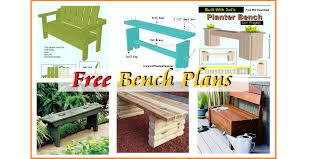 outdoor garden bench plans free
