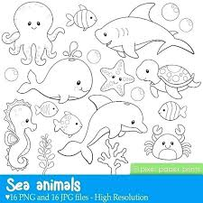 Ocean Animals Color Pages Ocean Animal Coloring Pages Animals Deep Sea Creatures Under The