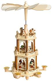 Amazon Com Brubaker Christmas Decoration Pyramid 18 Inches Wood