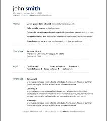 Open Office Resume Template Delectable Resume Templates For Openoffice Resume Template Inside Free Resume