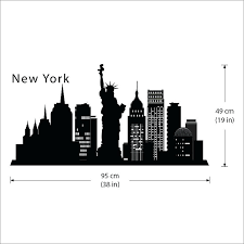 city skyline wall decals new city skyline silhouette the big within new skyline wall decal