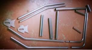 stock fork chopper bobber seamless tube frame kit hardtail