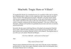 macbeth tragic hero or villain gcse english marked by  document image preview