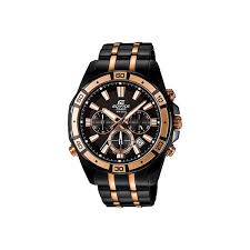 casio edifice analog watch for men black rose gold price in title