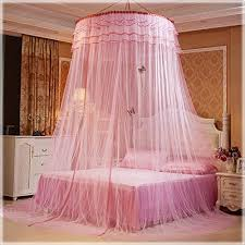 Crib Netting – POPPAP Bed Curtains Canopy for Girls Kids Round Dome ...