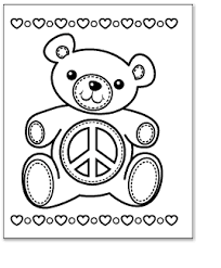 Small Picture Peace Coloring Pages Coloring Kids