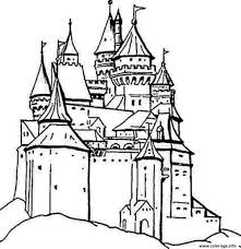 Coloriage Chateau Ancien Dessin