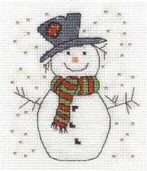 Picture Inspiration Only Snowman Cross Stitch Pattern