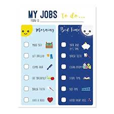 Routine Chart For Kids Chart For Morning And Bedtime Responsibility Chart Home And Teaching Resource Skills Development For Kids Behavior Chart