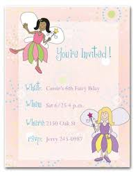 Printable Fairy Birthday Invitation Template Fairy Birthday Invitation
