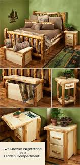 Log Furniture Ideas Natural Log Corral Bedroom Furniture Wild Wings Ideas