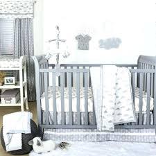 pink and grey elephant nursery grey nursery bedding set grey and white cloud print 3 piece baby crib bedding set by