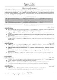 Mechanical Engineering Resume Format Doc Template Word For Freshers