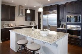 Brilliant Kitchens With Dark Cabinets And Light Countertops Kitchen A Throughout Inspiration Decorating