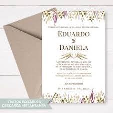 invitaciones de boda para imprimir invitacion de boda para imprimir y editar marce bodas en 2019