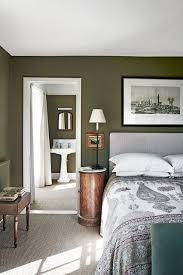 pictures of green bedrooms. Interesting Bedrooms Green Country Bedroom In Bedroom Decoration Ideas The Main With A  View To The Bathroom Both Have Been Painted Rich Olive Green Throughout Pictures Of Bedrooms T