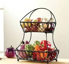 fruit basket for kitchen countertop attractive counter baskets tier bread metal storage decorative bins black fruit basket for kitchen countertop