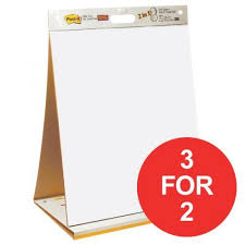 Table Top Meeting Chart And Dry Erase Board 20 Sheets 3 For 2 July September 2017 546306 9876