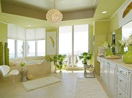 Green Paint Color Idea For Minimalist Bathroom
