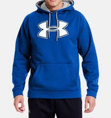 under armour jumper. men\u0027s ua storm armour® fleece big logo hoodie, moon shadow under armour jumper