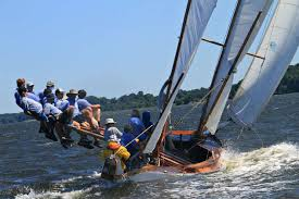 race log chesapeake bay log canoe island blossom wins mryc race