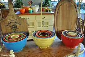 the little round table nesting bowls fiestaware mixing bowls