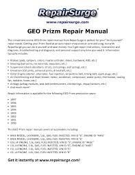 geo prizm repair manual 1990 1997 repairsurge com geo prizm repair manual the convenient online geo prizm repair manual
