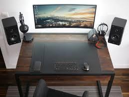 home office setups. my highly minimalist home office album on imgur setups