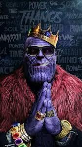 Avengers Thanos Hip hop Crown Gold ...