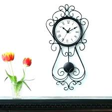 chaney wall clocks clock inch decorative wrought iron metal weathered