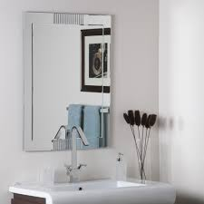 Frameless Bathroom Mirror Home Decoration Awesome Vintage Frameless Bathroom Mirrors And