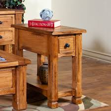 Sunny Designs 3133ro Chairside Space Saver End Table Sedona Rustic Oak