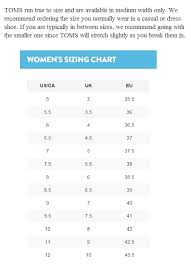 Toms Shoes Youth Size Chart Shoe Conversion Childrens Page 2 Of 2 Chart Images Online